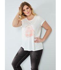 shirt sara lindholm offwhite::roze