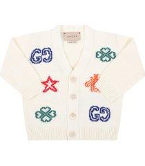 gucci ivory cardigan for babykids