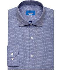 perry ellis premium blue dobby diamond grid tech dress shirt