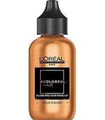coloração temporária l'oréal professionnel colorful hair flash pro hair make-up cor dourado digger 6