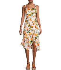 millie citrus-print linen dress