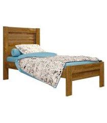 cama solteiro safira ipe rustic tcil móveis marrom