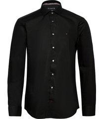 core poplin classic slim shirt overhemd business zwart tommy hilfiger