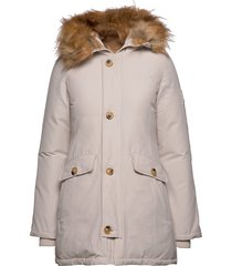 miss smith jacket gevoerde lange jas crème svea