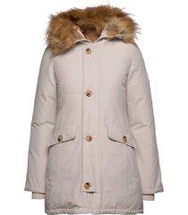 miss smith jacket gevoerde lange jas crème svea
