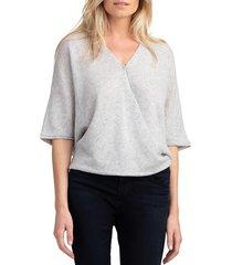 trina turk women's twist cashmere cardigan - heather grey - size xs/s
