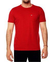 camiseta solida básica para hombre - rojo