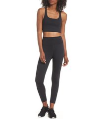 girlfriend collective paloma sports bra, size xx-large in black at nordstrom