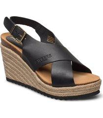 olivia sandalette med klack espadrilles svart sweeks