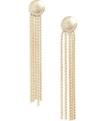 knotty deco ball & chain fringe drop earrings in gold at nordstrom