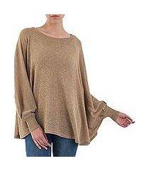 cotton blend sweater, 'coastal breeze' (peru)