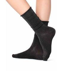 calzedonia - tall patterned socks, one size, black, women
