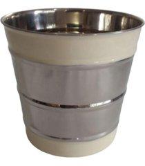 balde de gelo gr aluminio esmalte branco - multicolorido - dafiti