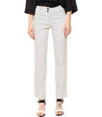pantalón blanco yurine recto