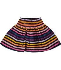 sonia rykiel multicolor girl skirt with logo