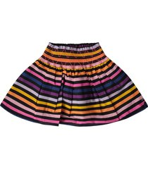sonia rykiel multicolor girl skirt with logo