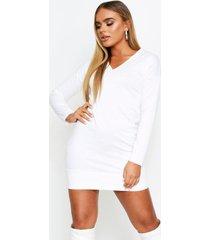 oversized v neck sweater dress, cream