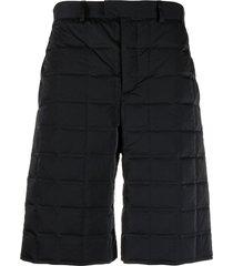 bottega veneta padded shell shorts - black