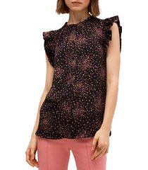 kate spade new york women's disco dots shell top - black - size xs