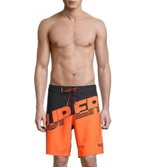 men's superdry hydro boardshorts - black orange - size m