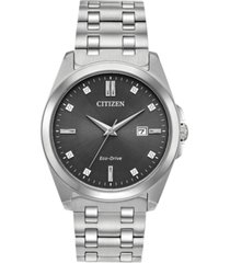 citizen eco-drive men's corso stainless steel bracelet watch 41mm