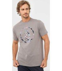 camiseta volcom circle parrilo cinza