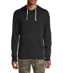 alternative men's school yard hoodie - true black - size s