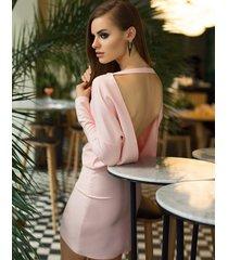 sukienka koktajlowa z odsłoniętymi plecami mini pastelowa