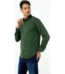 camisa de hombre, silueta classic cuello franses, manga larga, color negro