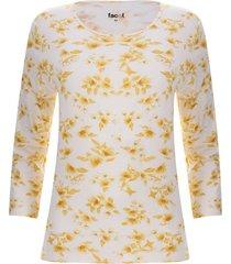 camiseta flores unicolor color amarillo, talla s