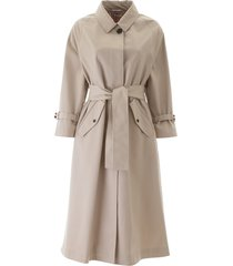 thom browne midi raincoat with belt