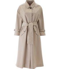 thom browne midi raincoat with belt