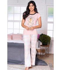 pijama mujer conjunto pantalón manga corta 11536
