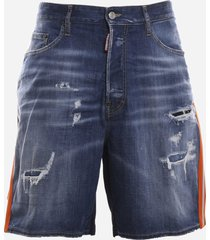 dsquared2 denim shorts with technical fabric back