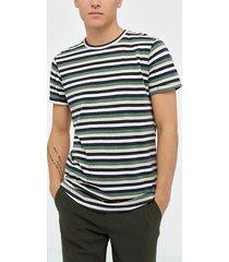 solid jaiden ss stripe t-shirt t-shirts & linnen light