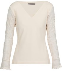 d.exterior embroidered sweater