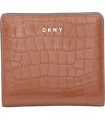 dkny bryant croc-embossed leather bifold wallet, created for macy's