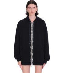 area sweatshirt in black polyamide