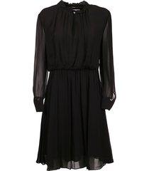 georgette ruffle jurk