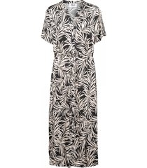 &co woman jurk brechje palm grijs