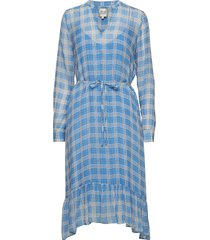 terna midi dress knälång klänning blå second female