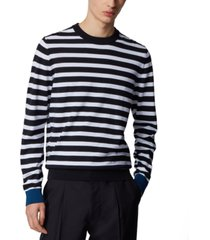boss men's orelli dark blue sweater