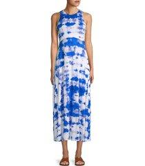 calvin klein women's tie-dye tank dress - blue multicolor - size 2
