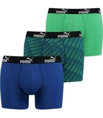 3-pack diagonal print boxer