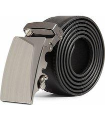 cinturon hombre lujo hebilla automatica zdk843m4 - color negro