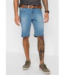 regular fit stretch jeans bermuda (set van 2)