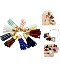 5pcs tassel small velvet earrings hair accessories diy necklace bracelet pendant