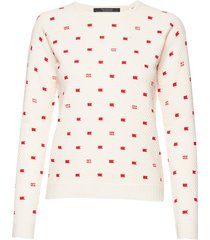 amsterdams blauw women stickad tröja vit scotch & soda