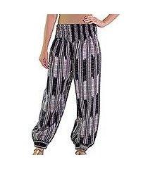 cotton harem pants, 'midnight in mixco' (guatemala)