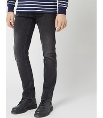 nudie jeans men's grim tim slim jeans - concrete black - w32/l34